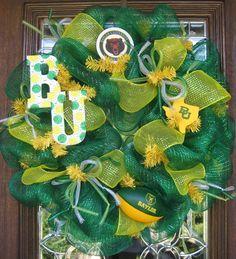 Baylor wreath...I really need to make myself one.