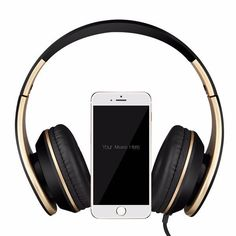 SOUND INTONE I65 Foldable Stereo Noise-canceling 3.5mm Wire Control Headset with Mic
