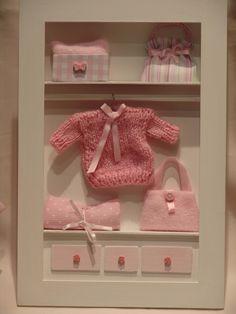 cuadros para bebes nenas miniaturas con profundidad 3d