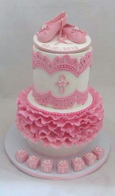 Pink Ballet Slippers Cake -  Wendy Schultz via pinned by pinner  onto Cake Decoration.