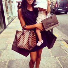 Remembering the days of shopping with my oldest, I was young and she was always in my arms. So sw