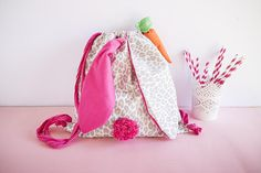 funny bunny backpack 30-35 cm long - processing times: ready for shipping - made in cotton  All items in this shop are Ethically handmade with care from the creative in Italy and the United Kingdom. - read the FAQ for other questions