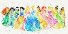 Disney Ursula Watercolor Art Print Poster Home by MarcoFriend Arte Disney, Disney Art, Disney Movies, Watercolor Disney, Watercolor Print, All Disney Princesses, Pinturas Disney, Disney Paintings, Disney Phone Wallpaper