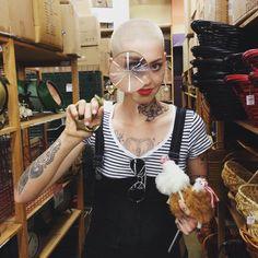 Illma Gore artist (@illmatherfuka) • Instagram photos and videos Piercing Tattoo, Piercings, Buzzed Hair, Contemporary Artists, Halloween Face Makeup, Woman Hair, Photo And Video, Tattoos, Inspirational