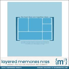 Layered Memories No. 125 - Digital Scrapbooking Templates DesignerDigitals