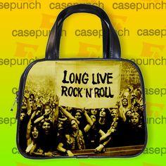 An8-rainbow Long Live Rock N Roll Handbag Purse Woman Bag Classic
