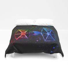 TIE Fighter Splash Painting Duvet Cover home decor - artwork available on over 30 different products from home styling to fashion and phone cases #homedecor #wallart #prints #phonecases #bedding #bathroom #fashion #trending #style