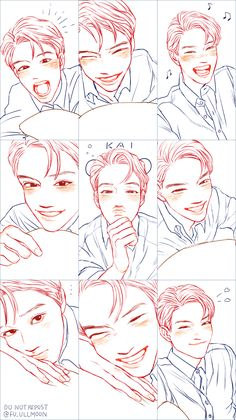 Find images and videos about kpop, exo and fanart on We Heart It - the app to get lost in what you love. Kai Arts, Kai Exo, Exo Anime, Drawn Art, Exo Fan Art, K Idol, Kpop Fanart, Art Sketchbook, Webtoon
