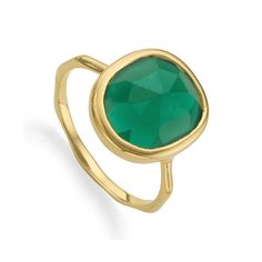 The organic oval shaped gemstone is rose cut to bring out its unique tones and natural variations. The green onyx gemstone is bezel set in Gold Plated Vermeil and measures x Stack with other Siren rings for an eclectic, individual look. Monica Vinader Ring, Ring Size Guide, Green Onyx, Wire Earrings, Stacking Rings, Fashion Rings, Agate, Gemstone Rings, Gemstones