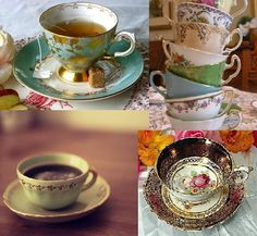 """Unmatching"" cups - looks like my tea set!"