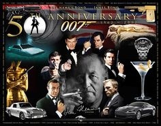 James Bond 50th Anniv. poster.  This one was a lot of fun to design.  For sale on our website