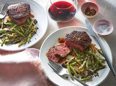 Beef Tenderloin with Balsamic Asparagus | Maintaining a healthy weight or trying to lose a few pounds ultimately revolves around the science of counting calories. It's a tedious task to tabulate every morsel you put in your mouth, but there's a simpler and much more flexible strategy: Start a file of skinny recipes. Use this collection of low-calorie dinners as a starting point. As always, taste comes first, so we've pulled together our best recipes that are big on flavor and in step with…