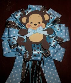 MommyTobe Baby Shower Monkey corsage for a girl by designsbyemilys, $19.99