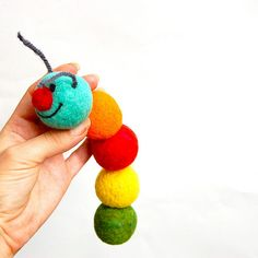needle felted caterpillar by asherjasper, via Flickr
