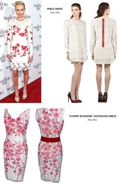 Kate Bosworth looks radiant in this cherry-blossom oriental lace dress. Check out these dresses from Alice Yim and Petit Pois to feel like you are walking through a zen garden. #Zindigo #getthelook #katebosworth