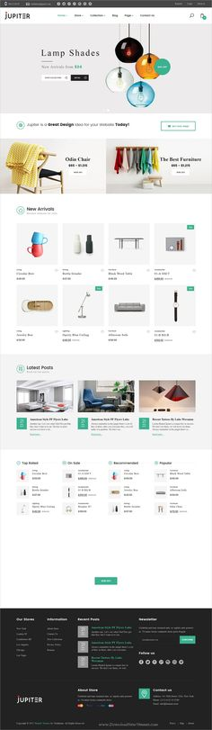 Shopify is stylish and elegant design 6in1 responsive #Shopify theme for #decor #furniture store stunning #eCommerce website with drag and drop builder download now➩ https://themeforest.net/item/jupiter-clean-and-clear-shopify-theme/19759497?ref=Datasata