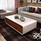 FOR SALE! White&Walnut Coffee Table 4 Drawers Super Saving Space Living Room