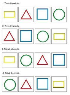 Shapes Worksheets, Preschool Worksheets, Preschool Learning, Teaching Colors, Teaching Art, Infant Activities, Preschool Activities, Math Lab, Arabic Alphabet For Kids