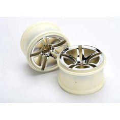 Traxxas Front Twin Spoke Wheels 2.8 Chrome Jato ETS Hobby Shop