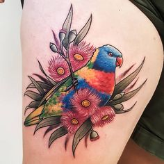 #tattoos Today I got to add a Lorikeet to my list of australian animals I have…