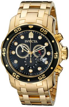 Invicta Herren-Armbanduhr XL Chronograph Quarz Edelstahl beschichtet 0072