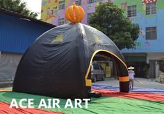 650.00$  Watch here - http://ali3px.shopchina.info/go.php?t=32662503379 - 4 Spider Leg Black Inflatable Dome Tent with 2 walls and 2 Openings  #SHOPPING