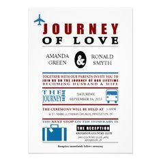 Vintage Travel Themed Wedding Personalized Invitation