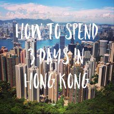 How to spend 3 days in Hong Kong #travelblog #hongkong www.kelaguk.tumblr.com