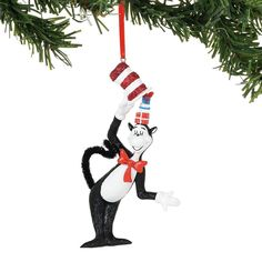 648cb6dc Dr. Seuss. Hanging Ornaments. Hatfull of Gifts Ornament, Dept. Seuss Cat in  the Hat