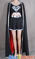 DC Comics Evil Supergirl Cosplay Costume Super Girl Black Dress