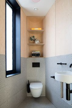 Space Saving Toilet Design for Small Bathroom 45 Minimalist Bathroom Design, Bathroom Interior Design, Modern Bathroom, Small Bathroom, Modern Minimalist, Bathroom Ideas, Interior Decorating, Bathroom Designs, Cosy Bathroom