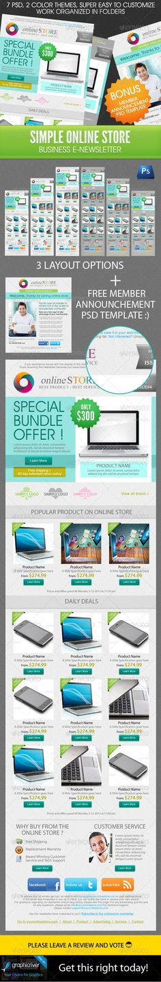 Simple Online Store Business E-Newsletter