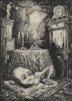 "Alfred Kubin - ""El duende"" -  1919"