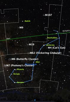 Look southward after twilight ends to see Scorpius, one of the few constellations that actually resemble their names.