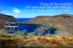 Throw off the bowline. Sail away from the safe harbor. Catch the trade winds in your sail.