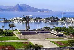 Panoramic view of the monument to the dead Brazilian GIs, in Rio de Janeiro, Brazil
