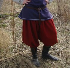 Early Medieval Viking baggy pants / trousers are based on historical pattern. Great for Viking reenactors