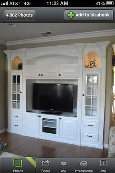 Love this TV armoire thing