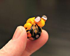 Mario the Yellow Glass Frog Bead Artisan Handmade by blancheandguy, $27.00