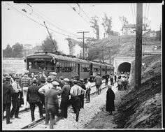 The opening of the Pacific Electric Hollywood Subway, 1928. Nothing beats L.A.! Even then...