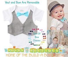 Cake smash outfit but with baby blue vs bright blue bow tie