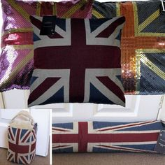 UNION JACK COLLECTION CUSHION COVER DRAUGHT EXCLUDER DOOR STOP TAPESTRY VINTAGE