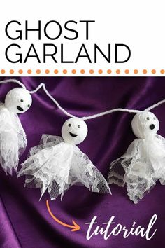 Diy Ghost Decoration, Spooky Halloween Decorations, Halloween Banner, Halloween Ghosts, Halloween Crafts, Halloween Ideas, Halloween House, Halloween 2020, Halloween Party