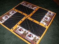 Quilted HALLOWEEN TABLE TOPPER by TessieTextile on Etsy, $25.00