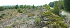 Els dics separen la plana d'inundació (esquerra) de la llera ordinària (dreta) #geologia #pallarsjussa #concadetremp #tremp.