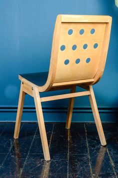 Rare Set of Eight Australian Stacking Chairs, First Edition by Roland Rainer image 8