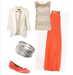 Blazer and maxi skirt.....classy combo:)