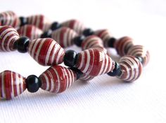 Paper Bead Jewelry Bracelets 7.5 inches Set of 2 by BeadAmigas
