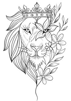 Lion Tattoo Design, Sketch Tattoo Design, Tattoo Sketches, Tattoo Drawings, Tribal Lion Tattoo, Leo Tattoos, Animal Tattoos, Body Art Tattoos, Art Drawings Sketches Simple