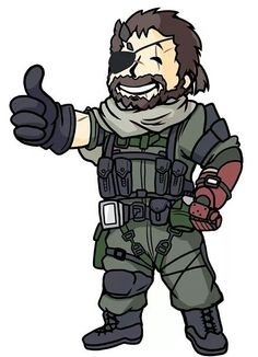 Metal Gear Venom Snake as Fallout Vault Boy Metal Gear 3, Metal Gear Solid Series, Metal Gear Rising, Hack And Slash, Geeks, Mgs V, Pip Boy, Fallout Art, Gear Art